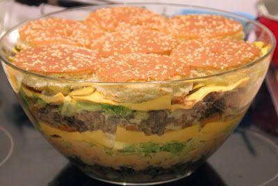 Kochen Backen Randalieren: BigMac Salat oder Schichtsalat ist nicht gleich Schichtsalat
