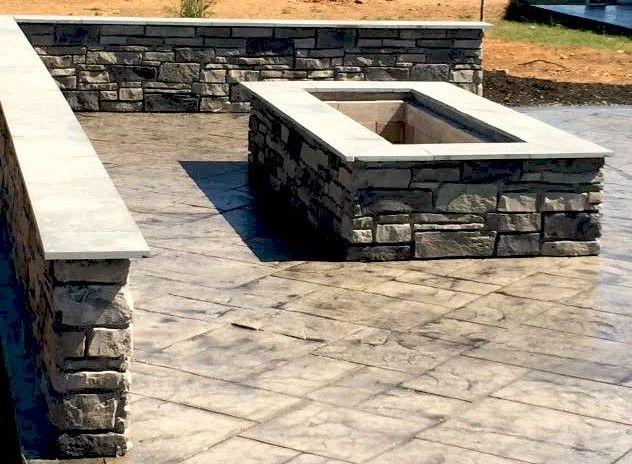Rectangular Custom Stone Fire Pit