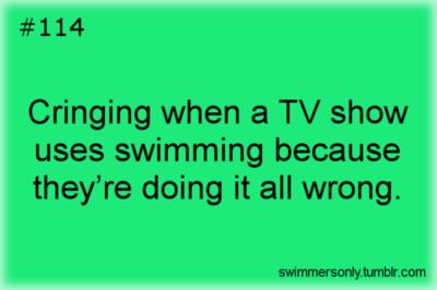 biggest issue. I tend to critique their dives and form out loud