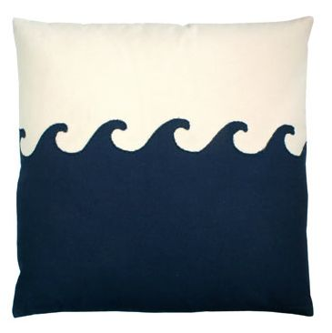 big wave: The Wave, Beach Houses, Wave Pillow