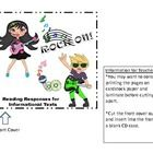 Need some fresh ideas for working with informational texts?  Students read the topics/questions on the