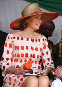 Queen Mathilde, July 3, 2012 in Fabienne Delvigne | Royal Hats