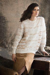 #15 Crew-Neck Pullover by Mari Lynn Patrick Vogue Knitting, Fall 2015 Dale Garn Monjita Dale Garn Pårfugl Dale Garn Heilo