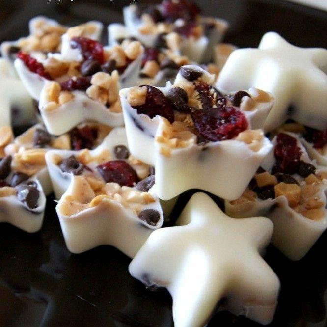 witte kerst chocolade sterretjes