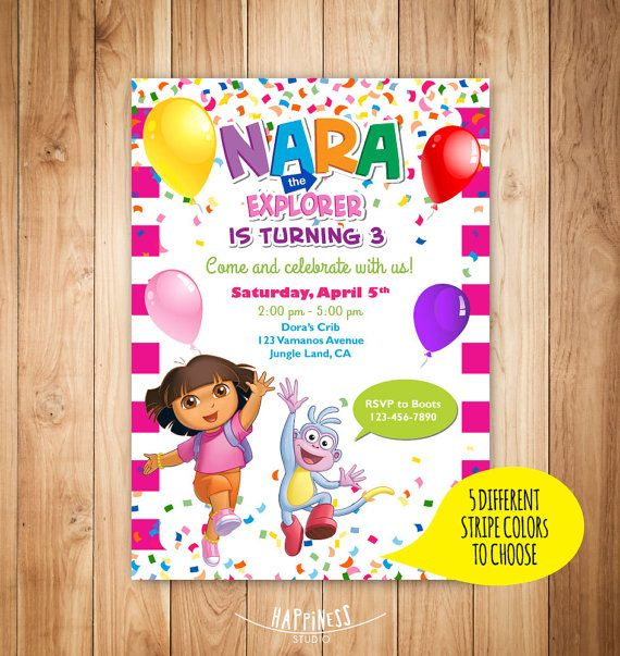 The 25 best Dora boots ideas – Dora Party Invites