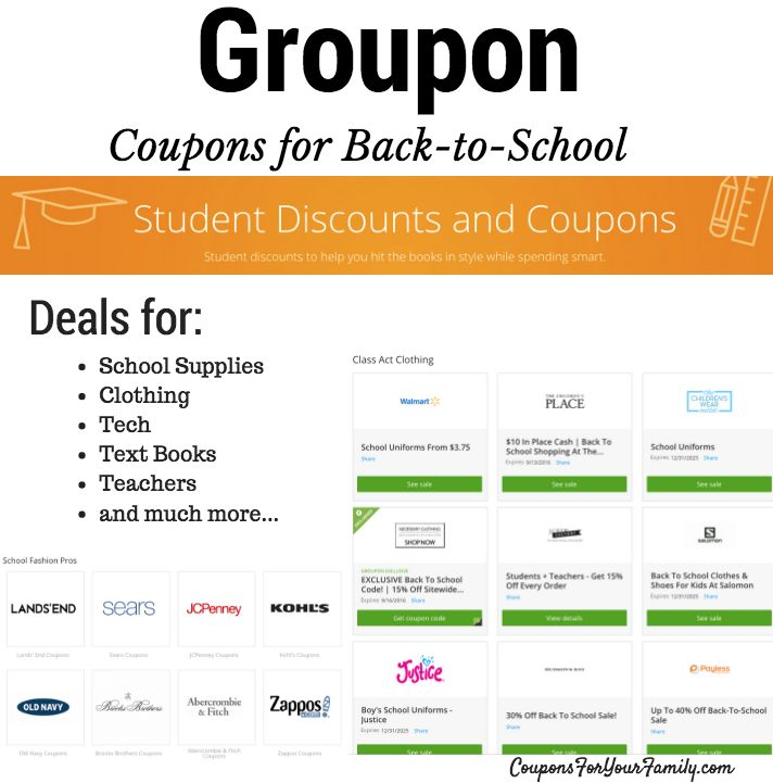 Check Out Groupon Coupons For Back To School Savings