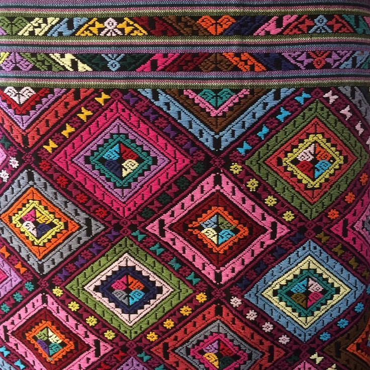 """""""Fantastic handmade multi coloured weaving from Sri Don Chai village, Thailand.  Discovered this at…"""""""