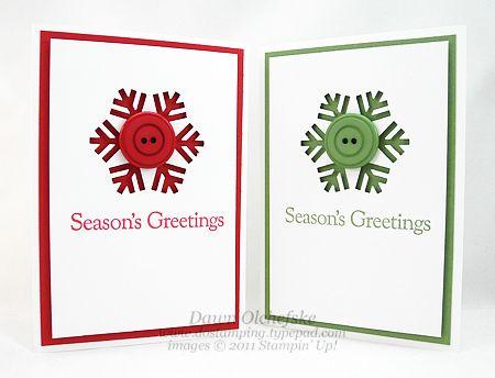 Button Snowflake Card