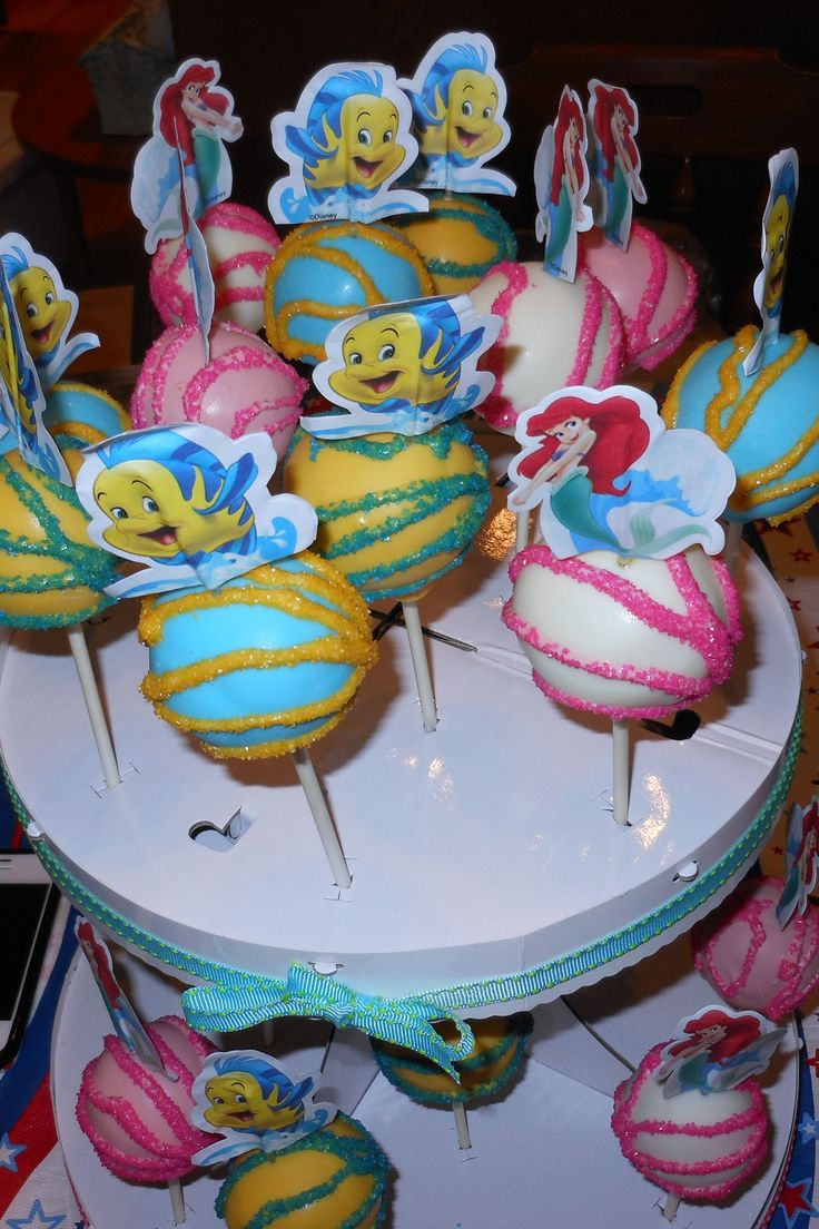 Little Mermaid Cake Pops!