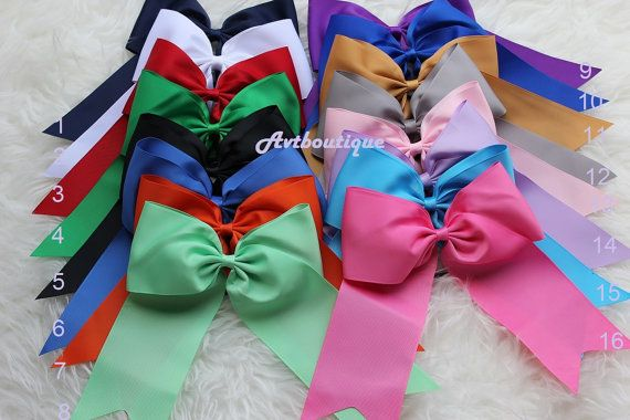 Cheer bow  CHOOSE COLOR  Texas size cheer bows  big by avtboutique