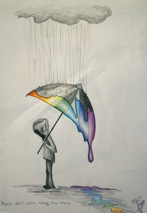This is a strong drawing as it really speaks for itself and I also think how it really sends a message maybe about bullying,depression or grief. I also like how simple this is.