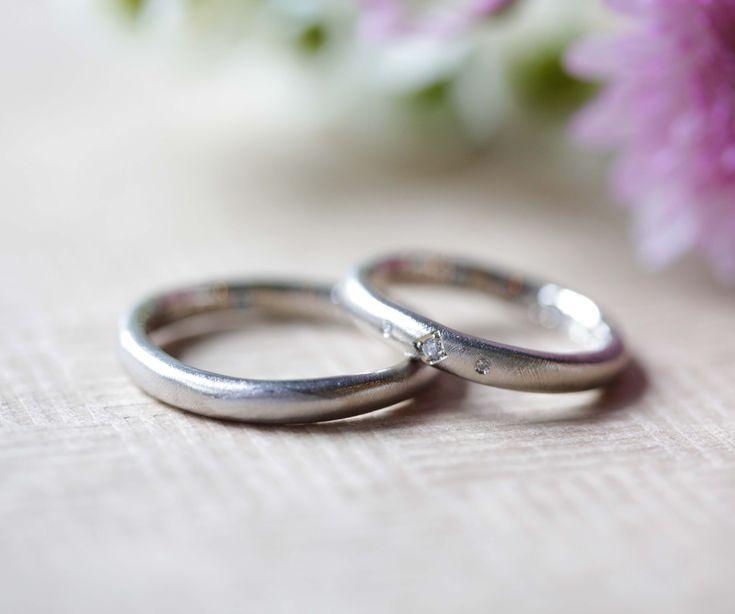 ひし形をポイントにそれぞれのアイディアが詰まったマリッジリング [marriage,wedding,ring,bridal,Pt900,プラチナ,マリッジリング,結婚指輪,オーダーメイド,ウエディング,ith,イズマリッジ]