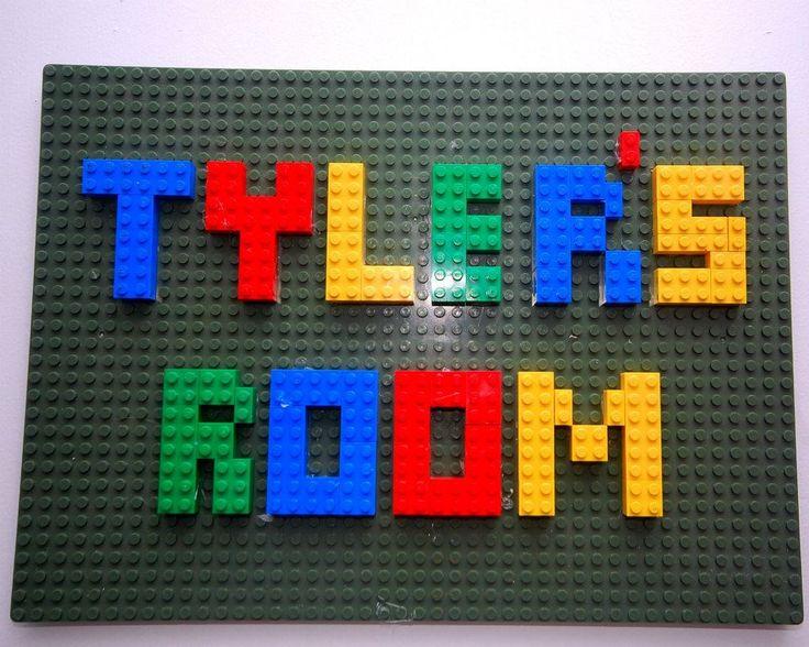 Lego bedroom sign