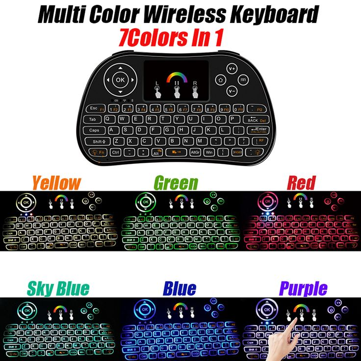 New item I86 mini keyboard air fly mouse with 7 colors backlit version, good and hot selling remote control for android tv box, can see the keys in dark,