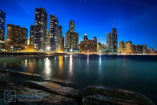 Cold Night in Chicago, via Twitter Follower @Christopher Stowe Franchino Photography #MyChicagoPix