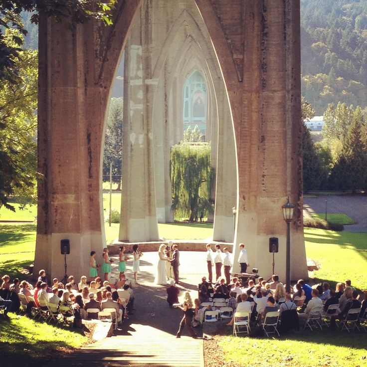 Wedding At Cathedral Park Portland OR