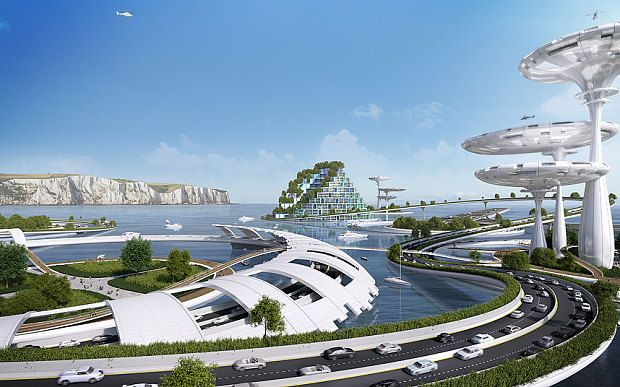 The future of Britain may include floating cities that harness solar and tidal energy Telegraph