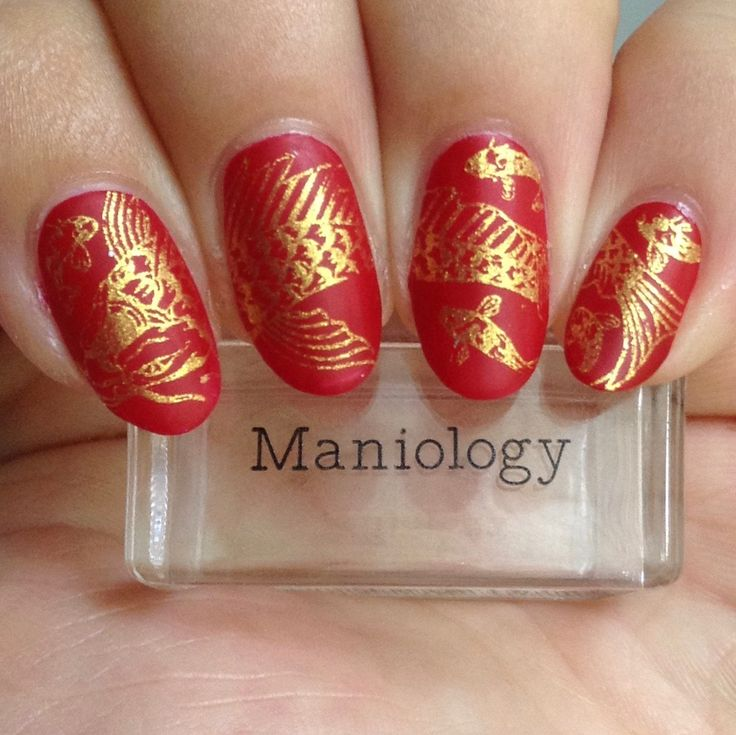 Lunar New Year Koi Pond (m112) Nail Stamping Plate in