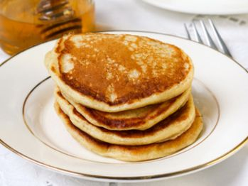 """Buttermilk Pancakes from Marion Cunningham's """"The Breakfast Book""""."""
