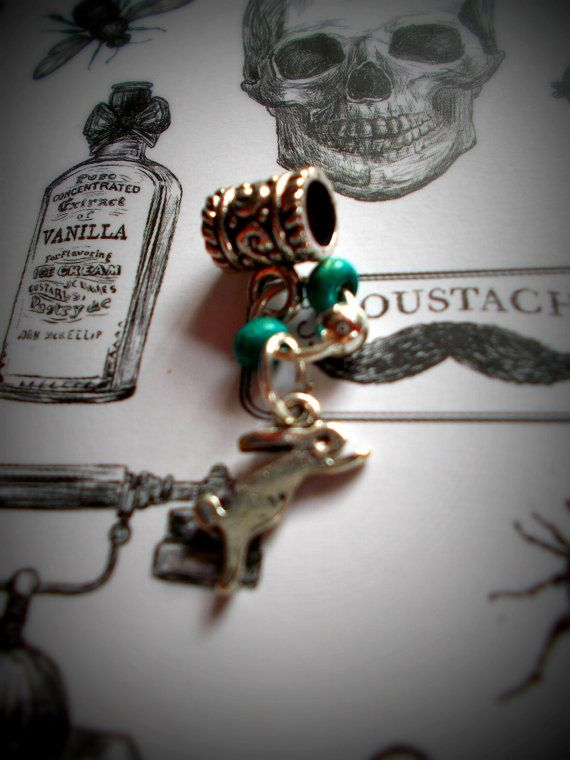 Cute dread bead with blue beads and bunny. by CatTorpedoDreads, £2.00