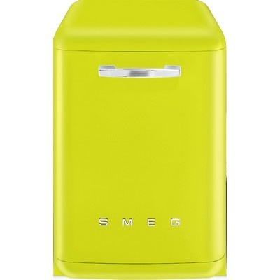 Lave-vaisselle silencieux 60 cm SMEG vert pomme soldé