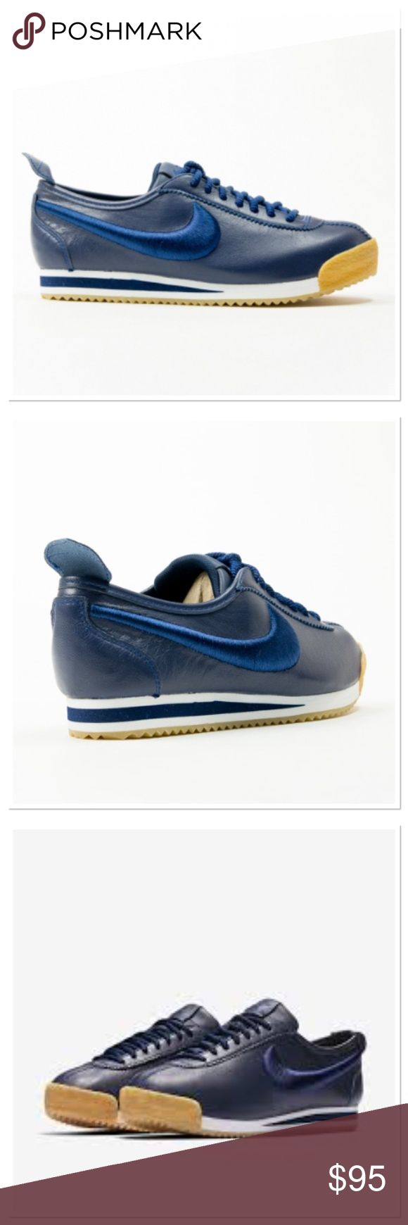 NWOB Nike Cortez 72' limited edition Those are stunning in person! Nike brought the 70's back with this ultra lightweight and comfortable limited edition Nike Cortez . Leather upper. The Nike swoosh is in the most beautiful royal blue stitching. True to size. Nike Shoes Sneakers