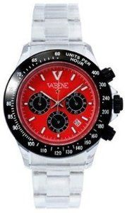 Product Description Case size: 40mm diameter Swiss made quartz battery movement Black & Red round dial with indices Silver plastic polycarbonate case Silver acrylic bracelet with locking clasp Fixed stainless steel bezel Date calendar function Mineral glass crystal Water resistant to 50atm Limited Edition