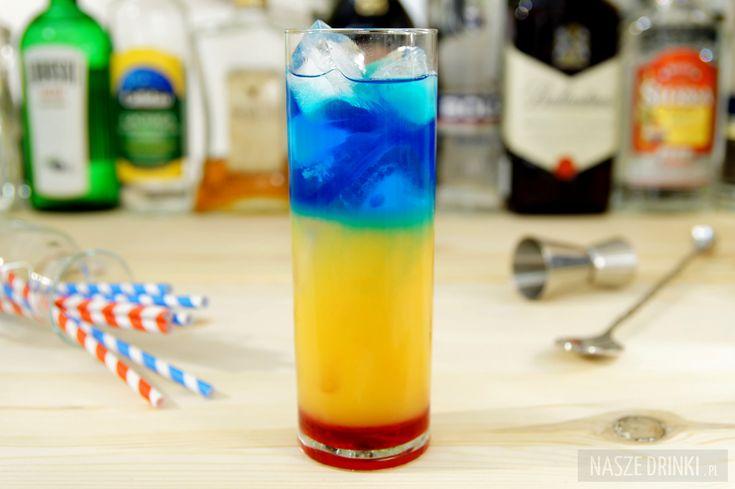 Barbados Sunrise to wielokolorowy drink złożony z kilku warstw, zachwycający…