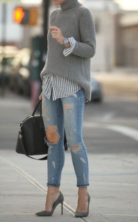 19 Cheap Turtleneck Oversized Sweater Outfit Ideas Fashion Outfit