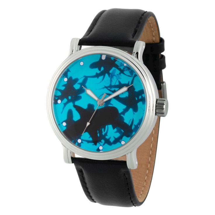 Men's Discovery Channel Shark Week Silver Vintage Alloy Watch - Black
