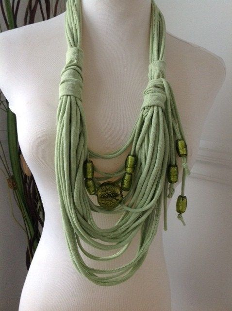 Scarf Necklace  Pistachio Ice Cream by MySassyScarfs on Etsy, $22.00