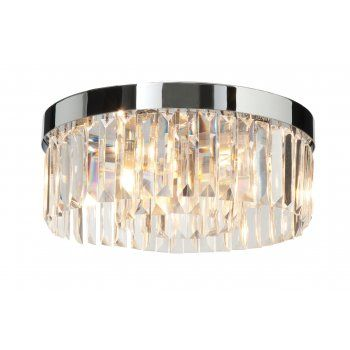 Saxby Lighting 35612 Crystal Bathroom Flush Ceiling Light IP44 Rated    Saxby Lighting From Affordable Lighting
