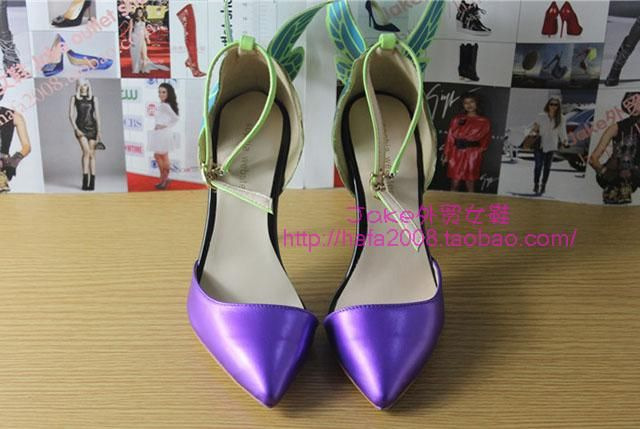 JC высоком каблуке, сандалии женщин каблуки Дневники вампира актриса Софи Вебстер фантазии красочные бабочки - Taobao туфли