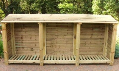 Triple Firewood Shed