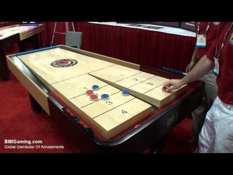 Metro Motor City Snapback Rebound Shuffleboard Table   BMIGaming.com   Mega  Mania