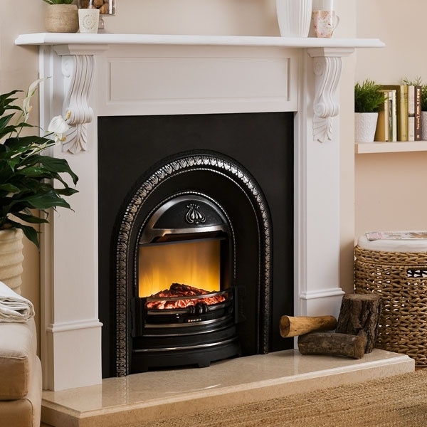 Packages Fire Heating Richmond Mantel With Regent Electric Fireplace Rich Wht Regent