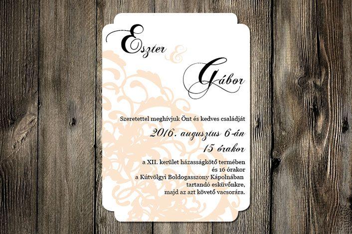 Classic Wedding Invitation, Wedding Invitation, Lace Wedding Invitation, Yellow Wedding Invitation