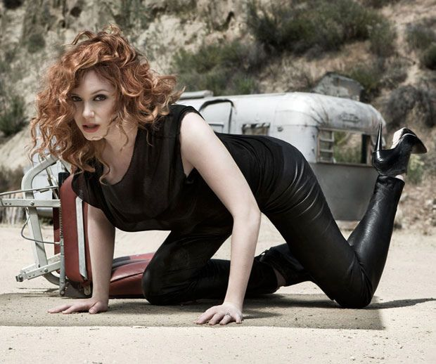 Christina Hendricks Leather Pants Google Search