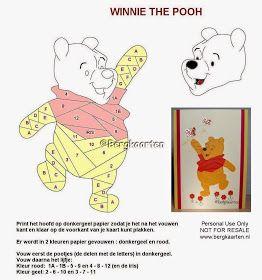 Iris Fold Winnie the Pooh Pattern/ Card