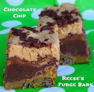 Chocolate Chip Reese's Fudge Bars
