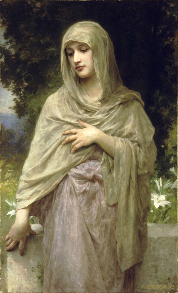 Modesty by William-Adolphe Bouguereau - (La Rochelle, November 30, 1825 - La Rochelle, August 19, 1905)
