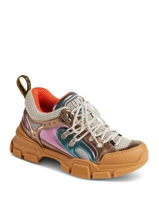 hot sale online 3170f 22c8a Gucci Women's Sega Leather Lace Up Sneaker | Bloomingdale's ...