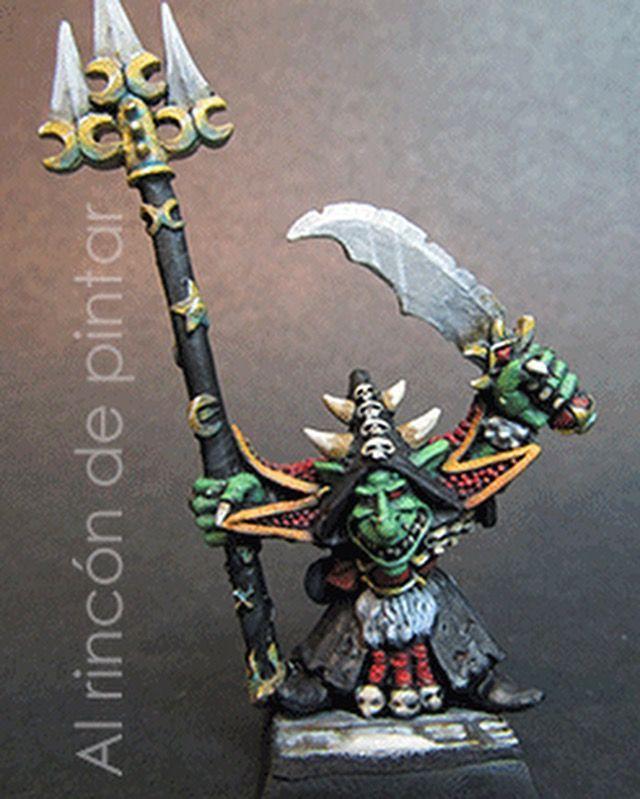 Skarsnik, orcos y goblins warhammer fantasy