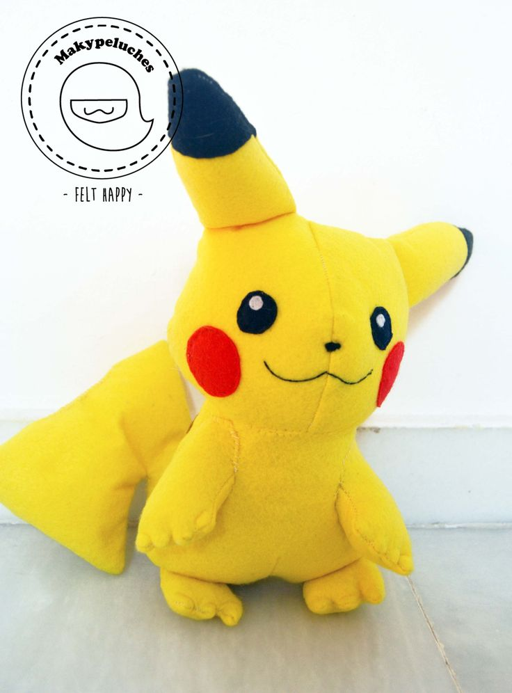 Peluche de fieltro de pikachu