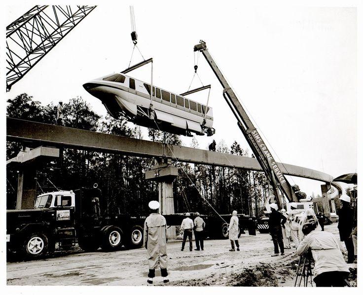 Disney World Monorail Construction Photo