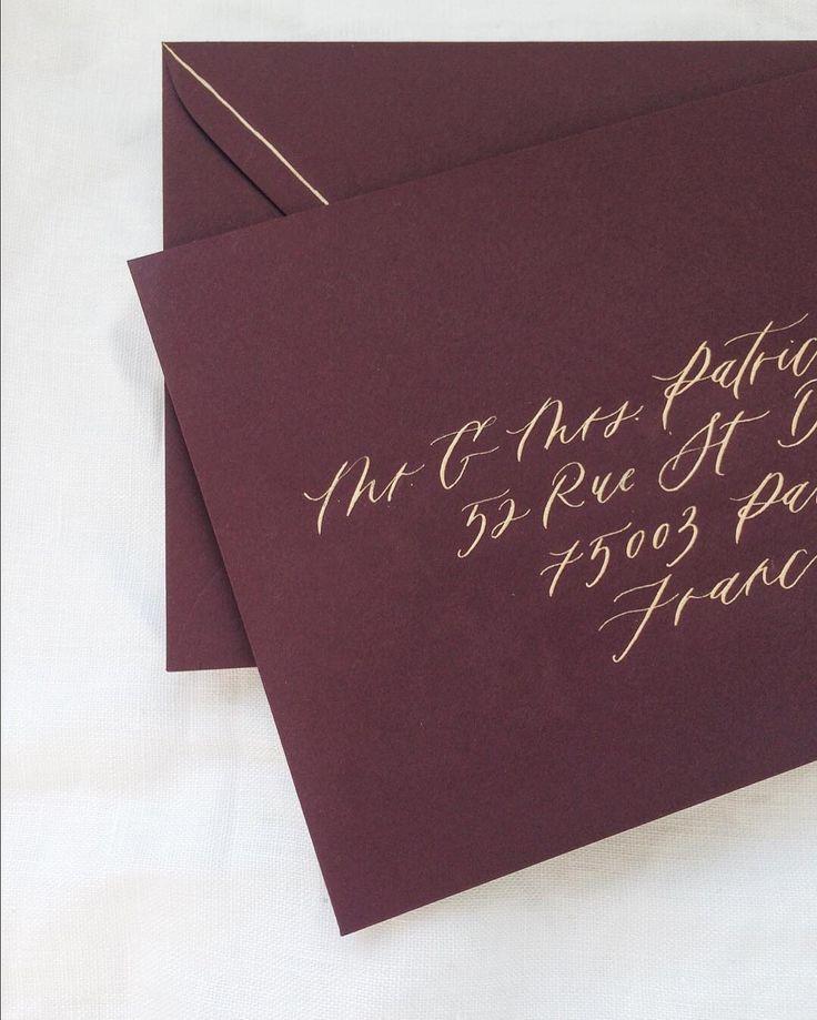 Best 25 Calligraphy Envelope Ideas On Pinterest