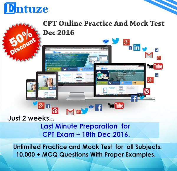 CPT Online Classes for June 2017 & CPT Mock Test for Dec 2016