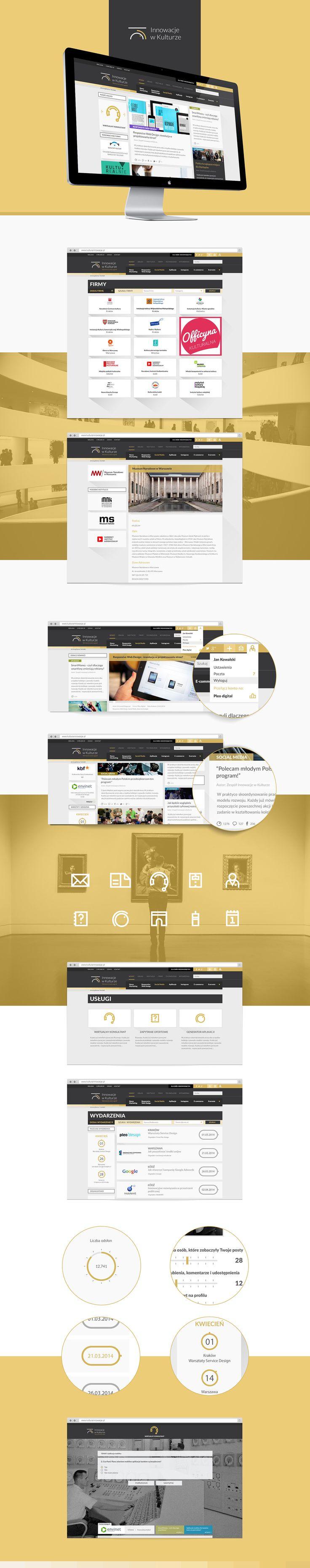 Innovations in Culture #design #UI #website #web #webdesign #pleo