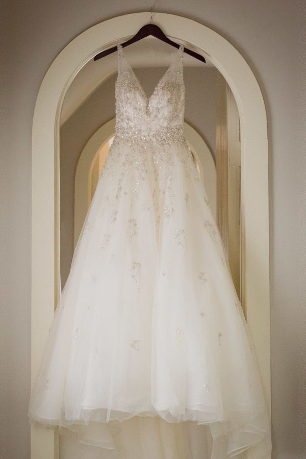 Beaded aline wedding dress: http://www.stylemepretty.com/2017/01/30/kirkland-manor-wedding/ Photography: Alysia and Jayson - http://www.alysiaandjayson.com/