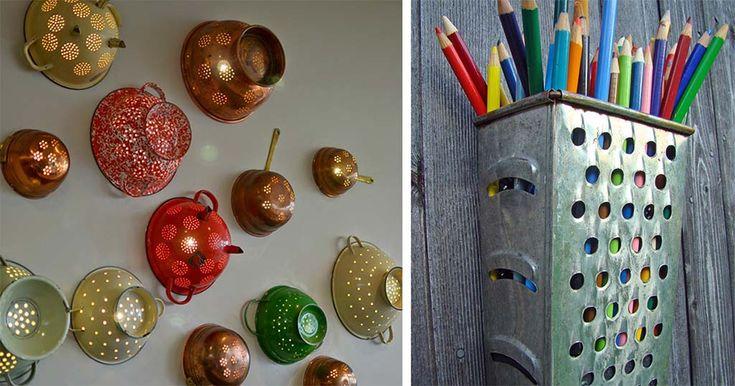 30 δημιουργικές χρήσεις των παλιών σας κουζινικών αντικειμένων και σκευών